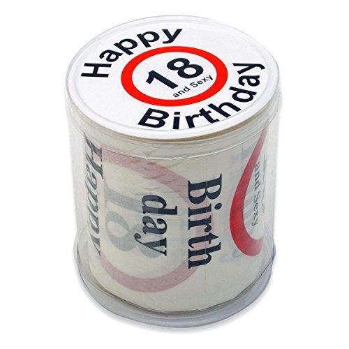 Lustiges Fun Klopapier zur Volljährigkeit 18. Geburtstag Toilettenpapier Geschenkartikel Geburtstags-Dekoration - 3