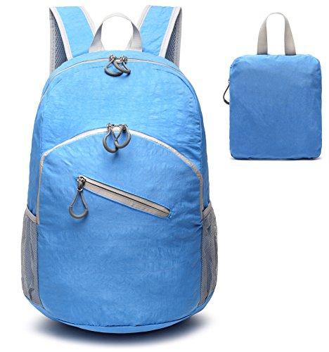 30L ligero Packable mochila, mrplum Unisex Durable resistente al agua práctico mochila para viajes y deportes al aire libre (Lavable S2- Azul claro)