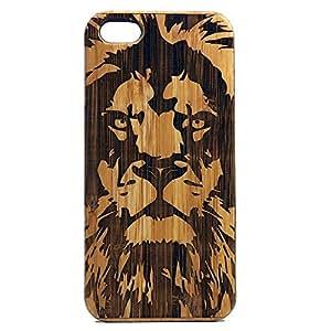 Lion iPhone 7 Plus Case. EcoFriendly Bamboo Wood Cover Big Cat Feline King of the Jungle Spirit Animal Totem Guardian Leo Africa