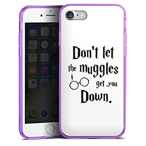 Apple iPhone 7 Silikon Hülle Case Schutzhülle Muggles Statement Harry Potter Silikon Colour Case lila