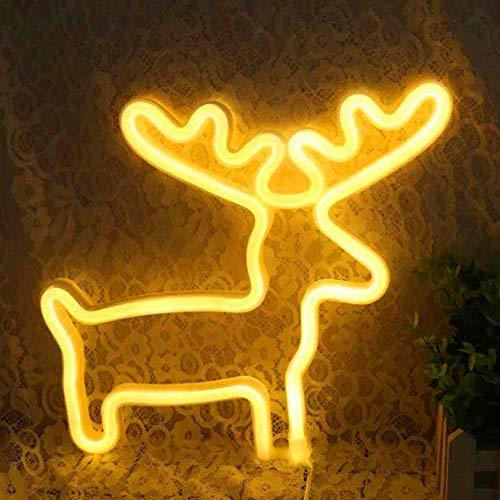 Deer Bunte Kunst Neon Lights LED Tier Neonlicht-zeichen Tischlampen Lustige Wand-dekor für Schlafzimmer Kinder Mädchen Geschenke Weihnachten Party Supplies