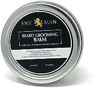 Balsamo per barba con olio di argan Olio di canapa con burro e api Cera - Stili, rinforza & ammorbidisce B