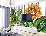 HONGYUANZHANG Abstrakte Farbe Blume Tapete Des Foto-3D Künstlerische Landschafts-Fernsehhintergrund-Tapete,140Inch (H) X 172Inch (W)