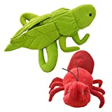 #5: Cuddly Toys Grasshopper and Ant Storytelling Stuffed Hand Puppet Set for Montessori Teaching