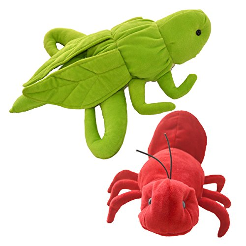 Cuddly Toys Grasshopper and Ant Storytelling Stuffed Hand Puppet Set for Montessori Teaching