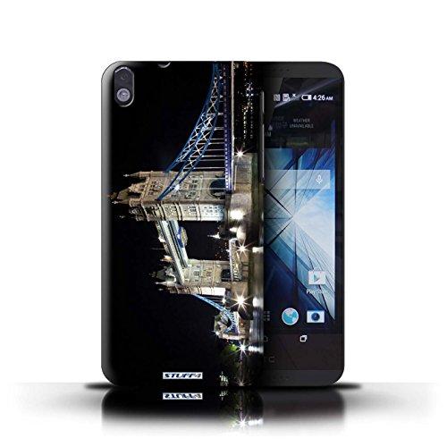 Kobalt® Imprimé Etui / Coque pour HTC Desire 816 / Tower Bridge conception / Série Londres Angleterre Tower Bridge