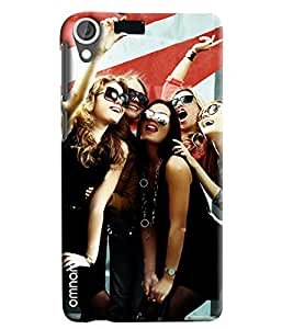 Omanm Five Girls Taking Selfie And Smiling Printed Designer Back Cover Case For HTC Desire 820