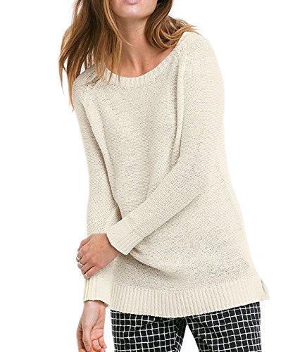 TopsandDresses Ladies Ivory Cream Cotton Long Sleeved Jumper In UK Sizes 12-26/eu 38-52