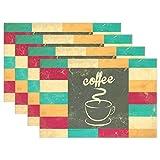 MUMIMI Fliesen Kaffee Platzdeckchen hitzebeständig Esstisch Mats Rutschfest Waschbar Tischset 1Stück, Mehrfarbig, 12x18inch