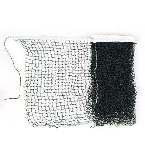 sourcingmap® 6M Länge Weißer Rand Geflochtene Nylon Grünes Gitter Badminton-Training Net