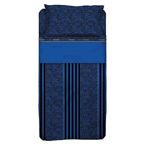Inter completo letto, cotone, nero/blu, 150 x 295 cm/90 x 200 cm/52 x 80 cm