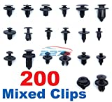 200 Stück Befestigung Auto Clips Kit / Sortiment - Gemeinsame Clips / Befestigungselemente - 20 Gemeinsame Auto Fasteners Scrivets Nieten