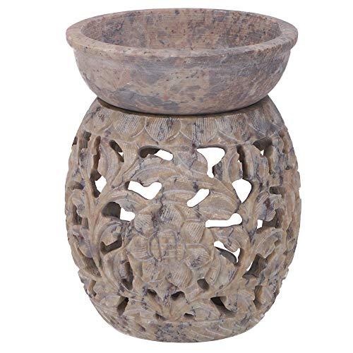 Guru-Shop Duftlampe aus Speckstein Nr. 16, 12x9x9 cm, Duftlampen & Öllampen