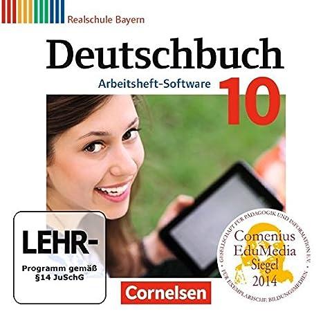 Deutschbuch 10. Jahrgangsstufe - Realschule Bayern - Übungs-CD-ROM zum Arbeitsheft