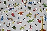1 m * 1,10 m Stoff Käfer Baumwolle Punkte - Raupe Raupen