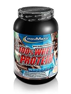 IronMaxx 100% Whey Protein / Wasserlösliches Proteinpulver / Eiweißpulver mit Dark Ecuador Chocolate Geschmack / 1 x 900 g Dose