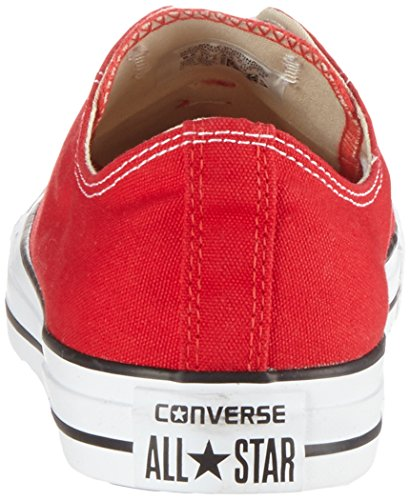 Converse-Chuck-Taylor-All-Star-Ox-Zapatillas-de-Lona-Unisex-Rojo-Red-37