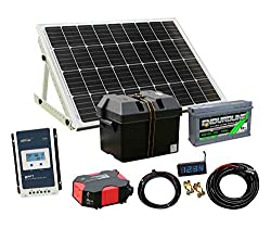 80/400w Solar Panel Electricity Generator Kit Charge Controller Battery Inverter