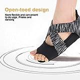 DOACT 1 Par zapatos antideslizantes Yoga para mujeres con medias medias para ballet, barra y acolchados, gris oscuro(S(35-36))
