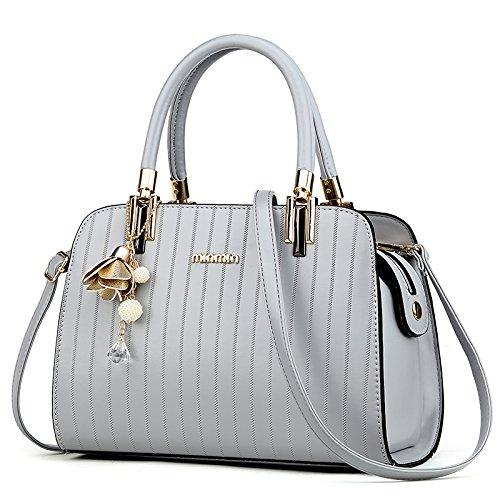 LiZhen Ms. pacchetti per autunno e inverno dalla nuova borsa elegante ragazza selvaggia ha una spalla minimalista un cross-pui confezione di marea, elegante nera Grigio chiaro