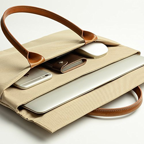 YiJee Shockproof Sleeve Custodia Borsa A Tracolla per Pc Portatili 11.6-15.4 Pollici Macbook Pro / Macbook Pro Retina 11.6 Inch Khaki