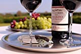 Professional Waiters Corkscrew by Barvivo - This Bottle Opener for Beer and Wine Bottles is Used by Waiters, Sommelier and Bartenders Around The World. Made of Stainless Steel and Ebony Wood.