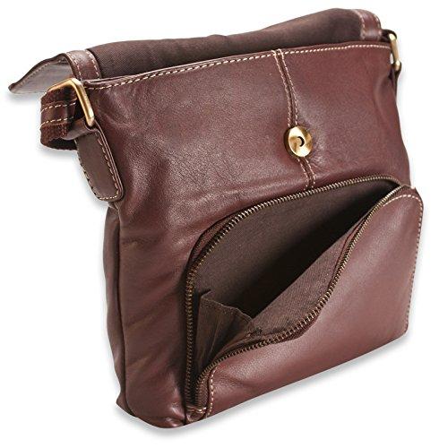 Brunhide Borsa tracolla, a spalla e a mano uso quotidiano in vera pelle # 118-300 Marrone