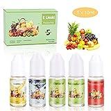 E-líquido sin Nicotina, ZEMOJ 5x10ml E-líquido para Cigarrillos Electrónicos 70VG/30PG E-shisha, ni Tabaco, 5 piezas