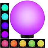 GreenBlue GB165 Außensolarlampe Solarkugel Solarleuchte LED Leuchtkugel Garten Beleuchtung Verschiedene Leuchtfarben (Color, 1 Stück - 25cm)
