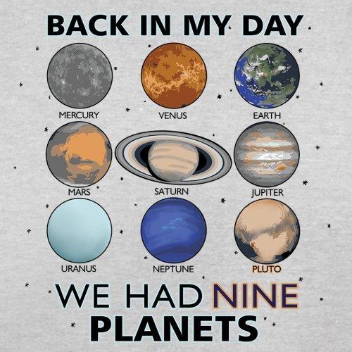 We Had Nine Planets - Herren T-Shirt - 13 Farben Hellgrau
