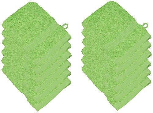starlabels Serviettes Disponible en 15 couleurs et 5 dimensions doux saugstark 500 g/m², 100% coton, Öko Tex, Coton, vert, 15 cm x 21 cm