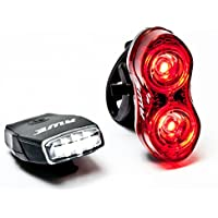 AWE® MicroFlash™ ricaricabile Biciclette in Silicone 4 LED anteriore & 2 x 0, 5W LED posteriore USB 2.0 luce Set 70 lumen