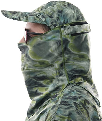 le Size Face Fishing Hunting Sun Protection Mask Breathing Holes Shield Pro+ Tube, Green Bayou by Aqua Design (Männlich Schwimmen Kostüme)