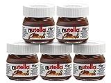 Nutella Mini Glas Set 1-32 Ferrero Brotaufstrich Minigläser-Set klein Schokolade 25 g kleine Packung, Variante wählen:5x Mini Nutella 25g