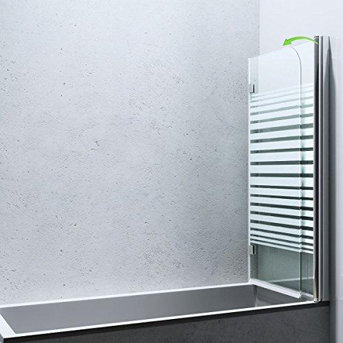 Duschabtrennung / Duschwand für Badewane aus Glas Cortona1408S-rechts, Wandanschlag rechts, inkl. Nanobeschichtung - 2