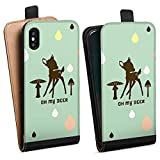 Apple iPhone XS Tasche Hülle Flip Case Oh My Deer Bambi Deer