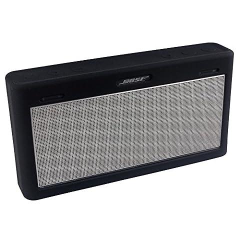 Soundlink Mini 3 Hülle, Soft Travel Tasche Tragetasche Silikon Schutzhülle für Bose Soundlink Mini III Wireless Bluetooth Speaker (schwarz)