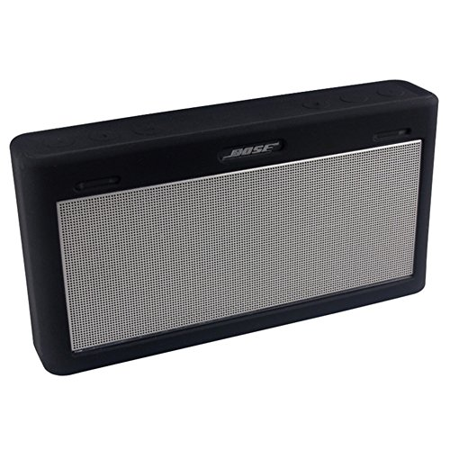 Price comparison product image for Bose Mini 3 Case, Soft Travel Carrying Case Silicone Protective Cover Skin for Bose Soundlink Mini III Wireless Bluetooth Speaker (Black)