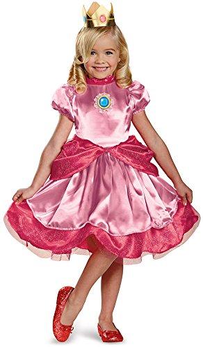 Mini Princess Peach Kostüm für Mädchen (Kinder Bowser Kostüme)