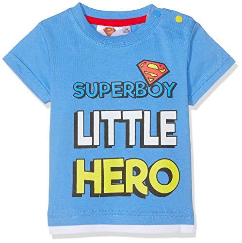 Superman Baby-Jungen T-Shirt , Blau (Bleu Bleu) , 12 Monate -