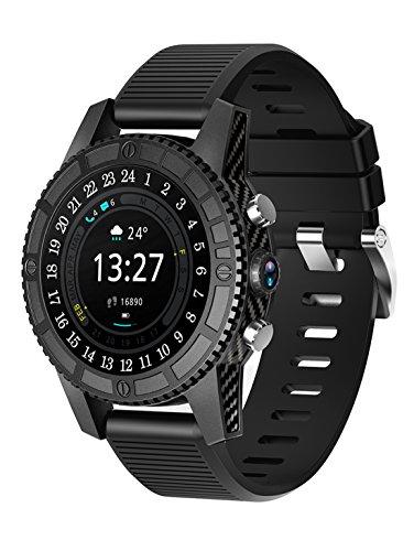 XHL Art Smartwatches Smart Armband, Runde Bildschirm Karte Anruf 4G, I7 Smart Watch Fitness 1 + 16GB Android 7.0 Herzfrequenz Für Samsung Getriebe S3 PK KW88 (1mb-karte)