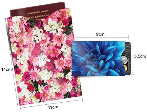 [12-Packung] RFID Blocking Hüllen - Designer Set, für Kreditkarte & ID Schützhüllen, ideal für im Portemonnaie / Passschutzhülle - Voller Schutz RFID & NFC - Wunderschöne Blumen - Bild 4