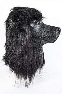 The Rubber Plantation TM 619219293426 - Máscara de látex con capucha para perro, diseño de canina francesa, para Halloween, mascota, disfraz de cabeza completa, adulto unisex, talla única