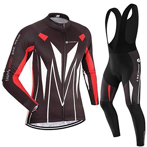 (Cojín 3D)(traje(Forro polar & tirante negro) tamaño:XL) Hombre Ciclismo Ropa Maillots Pantalones pantalón Set Conjunto jerseys
