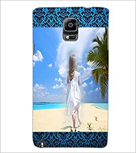 PrintDhaba Stranded Girl D-2494 Back Case Cover for SAMSUNG GALAXY NOTE 3 (Multi-Coloured)