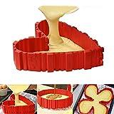 KAINI 4 pezzi Magia Cuocere Stampi in Silicone Stampo Cake,Bake Snakes stampi Torta del silicone - Muffa della torta DIY una varietà di forme combinazione libera