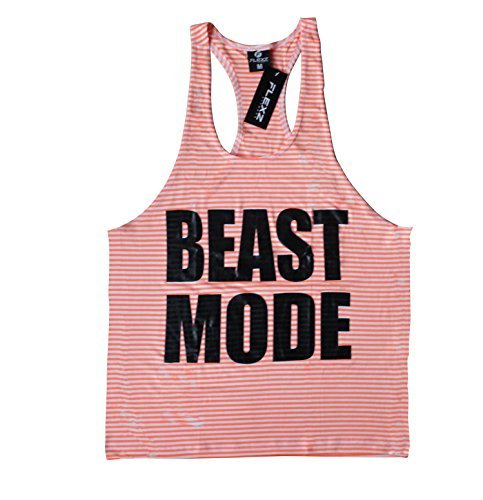Modo bestia camiseta de tirantes espalda cruzada de–cómodo de llevar en gimnasio, yoga, entrenamiento y CrossFit, small