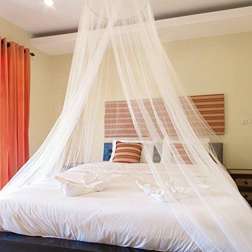 Blusea Mosquitero para Camas, Universal White Dome Malla de mosquitera Red Instalación...
