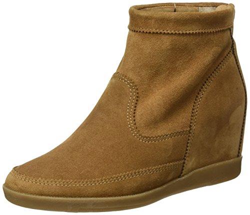 BULLBOXER Damen Low Boots Mokassin Stiefel, Braun (Nutt), 38 EU (Mokassin Stiefel)
