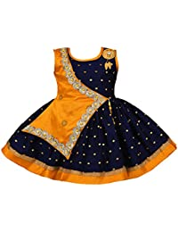 Wish Karo Baby Girls Frock Birthday Dress for Girls - Satin - (fe2446)